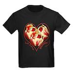Tulips, Let Love Bloom Kids Dark T-Shirt