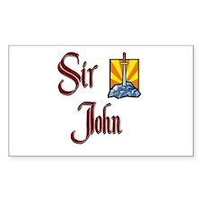 Sir John Rectangle Decal