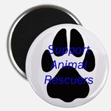"""Support Animal Rescuers 2.25"""" Magnet (10 pack)"""