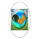 Dutch Opal Bantam Oval Sticker