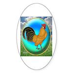 Dutch Opal Bantam Oval Sticker (10 pk)