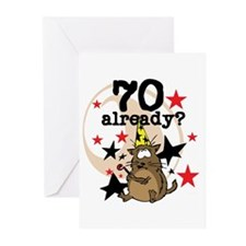 70 Already Birthday Greeting Cards (Pk of 10)