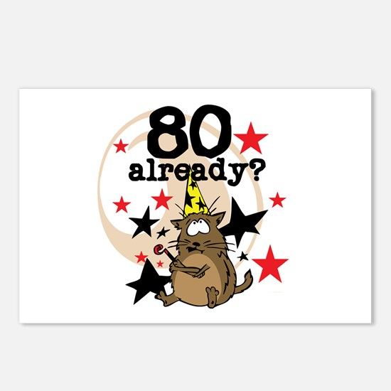 80 Already Birthday Postcards (Package of 8)