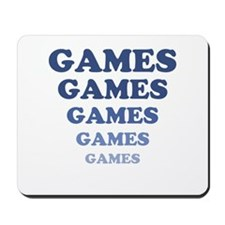 GAMES GAMES GAMES Mousepad