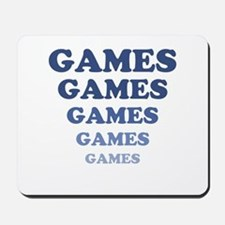 GAMES GAMES GAMES Mousepad