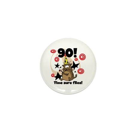 90th Birthday Mini Button (100 pack)