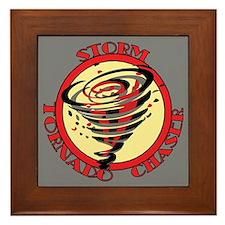 Storm Tornado Chaser Framed Tile