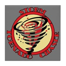 Storm Tornado Chaser Tile Coaster