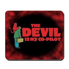 Devil Is My Co-Pilot Mousepad