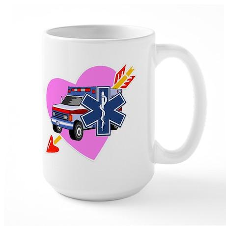 EMS Care Heart Large Mug