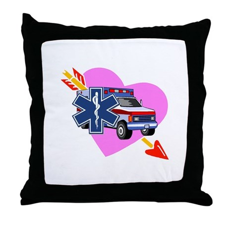 EMS Care Heart Throw Pillow