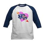 EMS Care Heart Kids Baseball Jersey