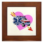 EMS Care Heart Framed Tile