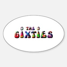 The 6ixties Peace Oval Decal