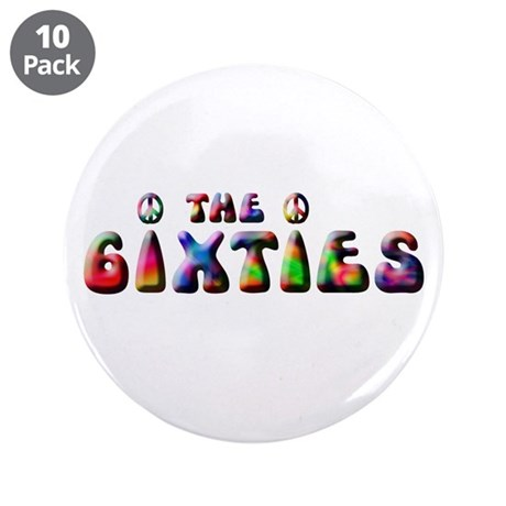 """The 6ixties Peace 3.5"""" Button (10 pack)"""