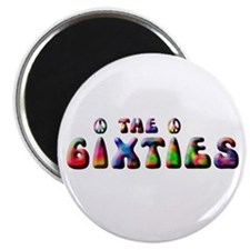 """The 6ixties Peace 2.25"""" Magnet (10 pack)"""