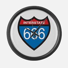 Interstate 666 Large Wall Clock