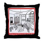 """""""Bitches in the Kitchen"""" Throw Pillow"""