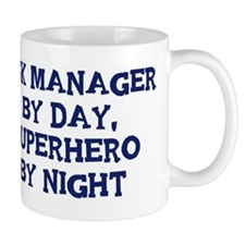 Risk Manager by day Small Mugs