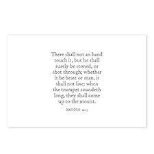 EXODUS  19:13 Postcards (Package of 8)