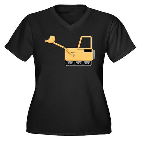 Bobcat Women's Plus Size V-Neck Dark T-Shirt