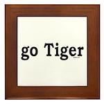 go Tiger Framed Tile
