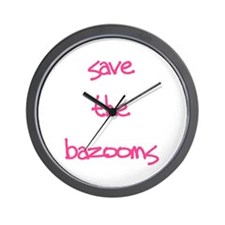 Save the Bazooms Wall Clock