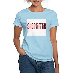 shoplifter Women's Pink T-Shirt