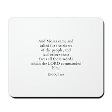 EXODUS  19:7 Mousepad