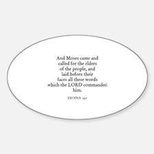 EXODUS 19:7 Oval Decal