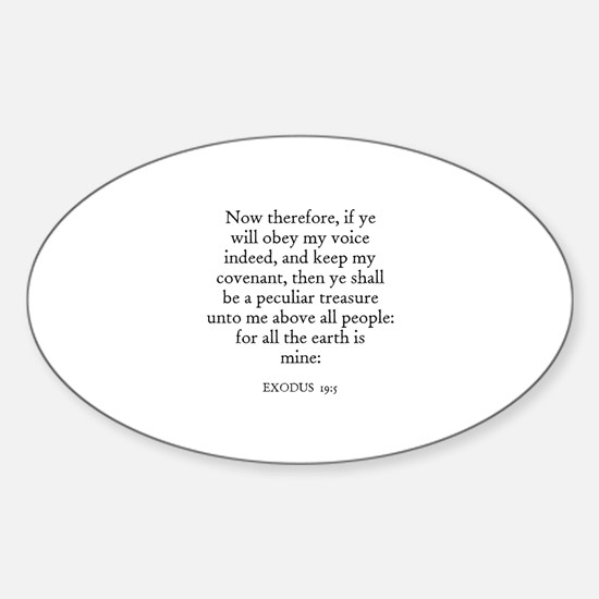 EXODUS 19:5 Oval Decal