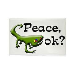 Gecko Peace OK refrigerator magnet