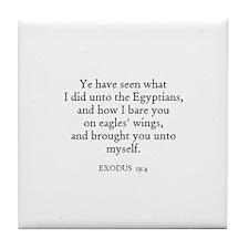 EXODUS  19:4 Tile Coaster