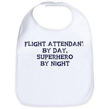 Flight Attendant by day Bib