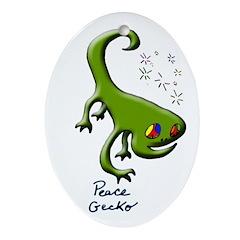 Peace Gecko Yule Tree Ornament
