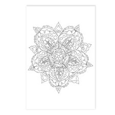 Lace and Faces Color Your Own Postcards (Package o