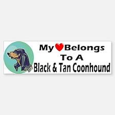 Black & Tan Coonhound Bumper Bumper Bumper Sticker