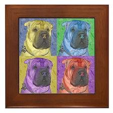 Shar-Pei Framed Tile