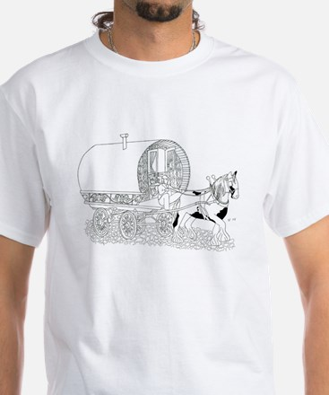 Gypsy Wagon Color Your Own White T-Shirt