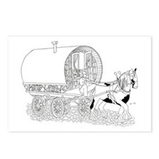 Gypsy Wagon Color Your Own Postcards (Package of 8
