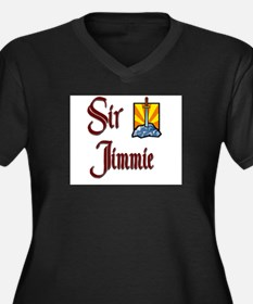 Sir Jimmie Women's Plus Size V-Neck Dark T-Shirt