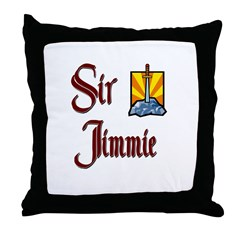 Sir Jimmie Throw Pillow