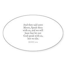 EXODUS 20:19 Oval Decal