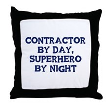 Contractor by day Throw Pillow