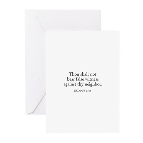 EXODUS 20:16 Greeting Cards (Pk of 10)
