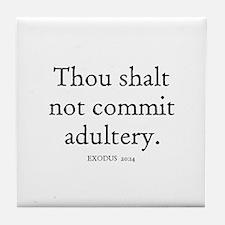 EXODUS  20:14 Tile Coaster