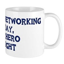 Computer Networking by day Small Mug
