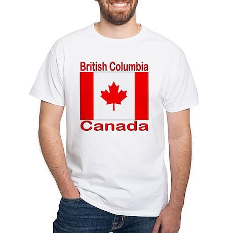 British Columbia Flag Canada White T-Shirt