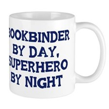 Bookbinder by day Small Mugs