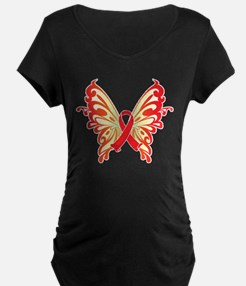 AIDS Ribbon Butterfly T-Shirt